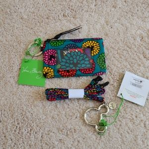 Vera Bradley Disney Magical Blooms ID Case Lanyard